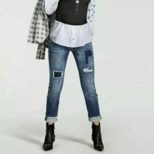 CAbi Patchwork Slim Boyfriend Jeans #5308